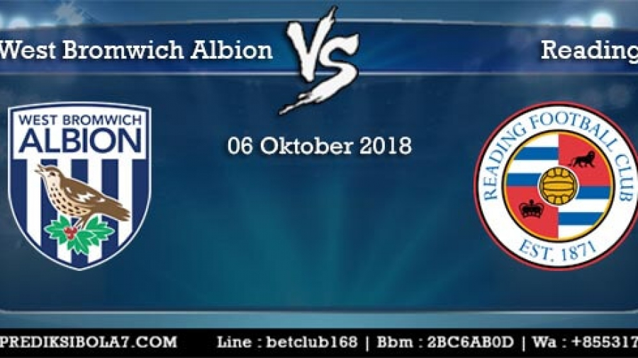 Prediksi West Bromwich Albion Vs Reading 6 Oktober 2018